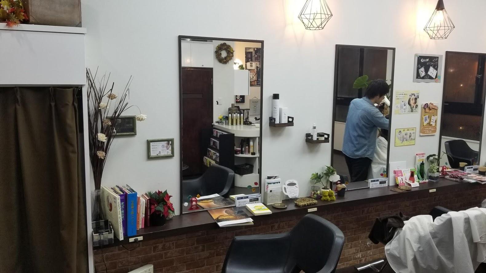 美容室のカット台
