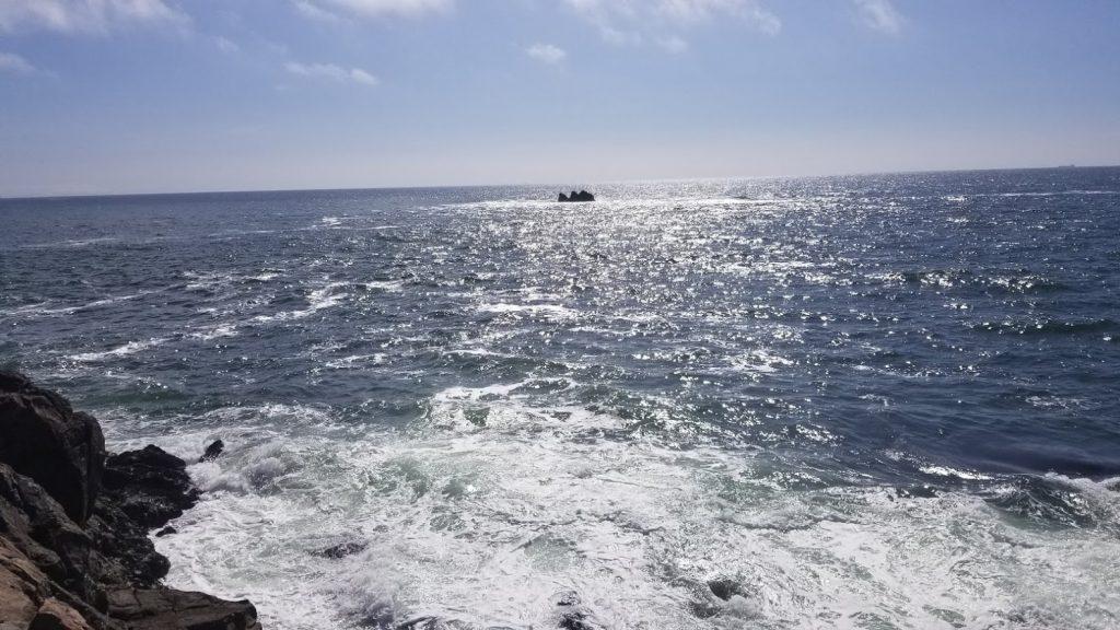 七ヶ浜の絶景釣り場の写真