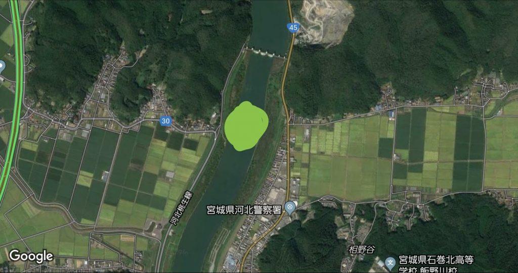 追波川のシーバスポイントの写真