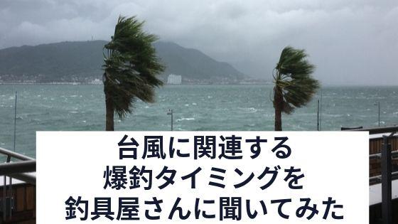 台風と釣りの関係