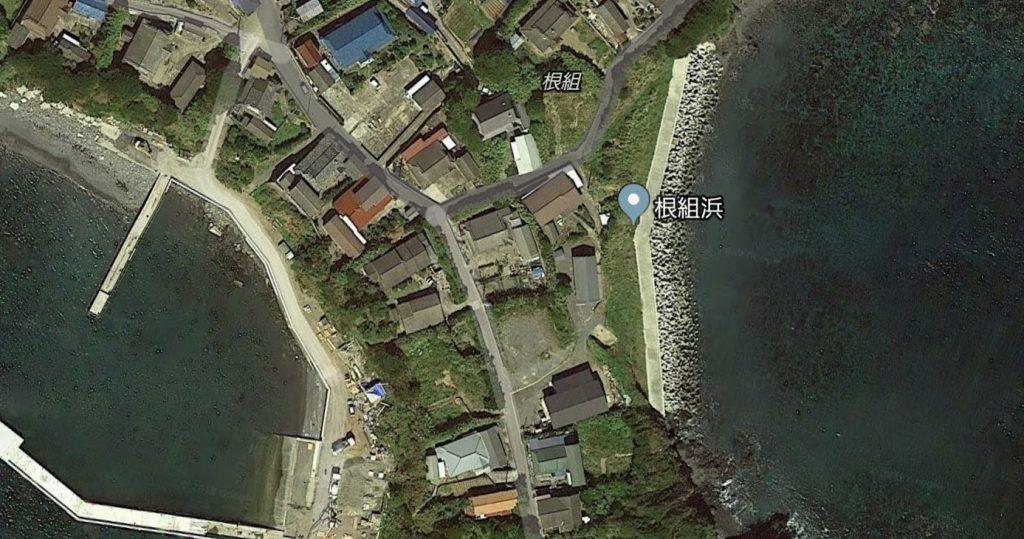根組浜の地図