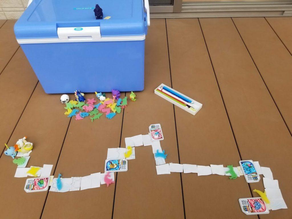 室内遊びで子供とおもちゃを自作