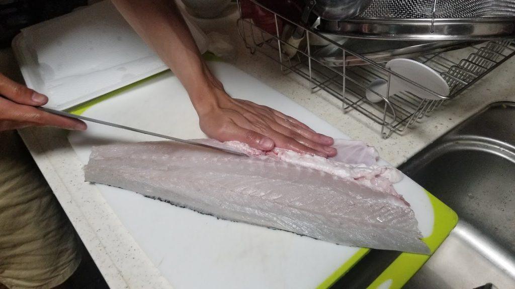 シーバス(鱸)を刺身で食べる切り方⑲