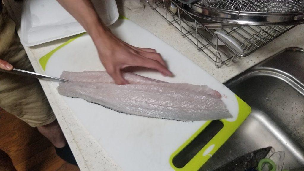 シーバス(鱸)を刺身で食べる切り方㉒
