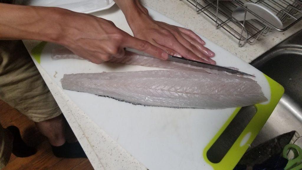 シーバス(鱸)を刺身で食べる切り方㉓